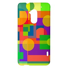 Colorful geometrical design HTC One Max (T6) Hardshell Case