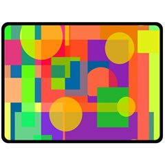 Colorful geometrical design Double Sided Fleece Blanket (Large)