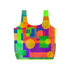 Colorful geometrical design Full Print Recycle Bags (S)