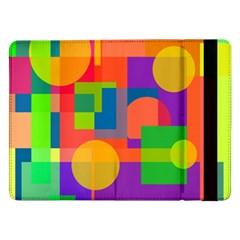 Colorful geometrical design Samsung Galaxy Tab Pro 12.2  Flip Case