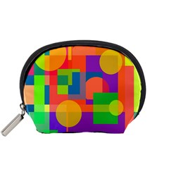 Colorful geometrical design Accessory Pouches (Small)