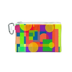 Colorful geometrical design Canvas Cosmetic Bag (S)
