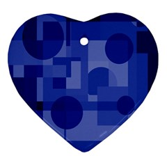 Deep blue abstract design Ornament (Heart)
