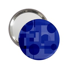 Deep blue abstract design 2.25  Handbag Mirrors