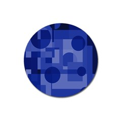 Deep blue abstract design Magnet 3  (Round)