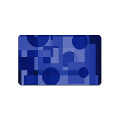 Deep blue abstract design Magnet (Name Card)