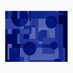 Deep blue abstract design Small Glasses Cloth