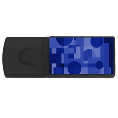 Deep blue abstract design USB Flash Drive Rectangular (4 GB)