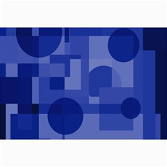Deep Blue Abstract Design Collage Prints