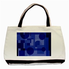Deep blue abstract design Basic Tote Bag