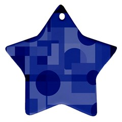 Deep blue abstract design Star Ornament (Two Sides)