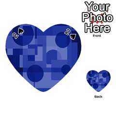 Deep Blue Abstract Design Playing Cards 54 (heart)