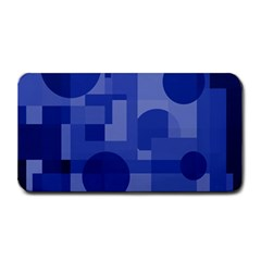 Deep blue abstract design Medium Bar Mats