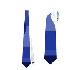 Deep blue abstract design Neckties (One Side)