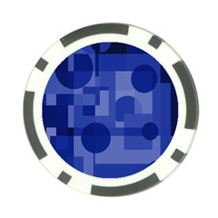 Deep blue abstract design Poker Chip Card Guards