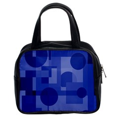 Deep blue abstract design Classic Handbags (2 Sides)