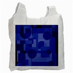 Deep blue abstract design Recycle Bag (One Side)