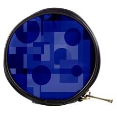 Deep blue abstract design Mini Makeup Bags