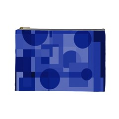 Deep blue abstract design Cosmetic Bag (Large)