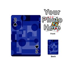 Deep blue abstract design Playing Cards 54 (Mini)