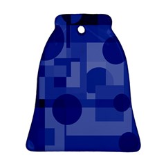 Deep blue abstract design Bell Ornament (2 Sides)