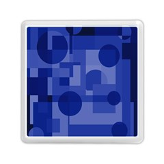 Deep blue abstract design Memory Card Reader (Square)
