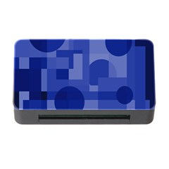 Deep blue abstract design Memory Card Reader with CF