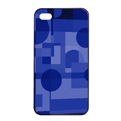 Deep blue abstract design Apple iPhone 4/4s Seamless Case (Black)