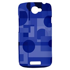 Deep blue abstract design HTC One S Hardshell Case