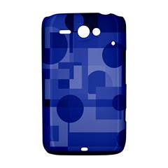 Deep blue abstract design HTC ChaCha / HTC Status Hardshell Case