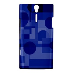Deep blue abstract design Sony Xperia S