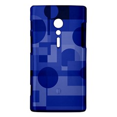 Deep blue abstract design Sony Xperia ion