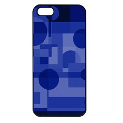 Deep blue abstract design Apple iPhone 5 Seamless Case (Black)