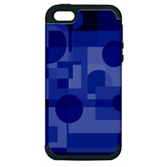 Deep blue abstract design Apple iPhone 5 Hardshell Case (PC+Silicone)