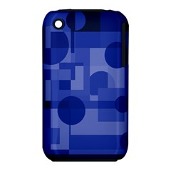 Deep blue abstract design Apple iPhone 3G/3GS Hardshell Case (PC+Silicone)