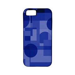 Deep blue abstract design Apple iPhone 5 Classic Hardshell Case (PC+Silicone)