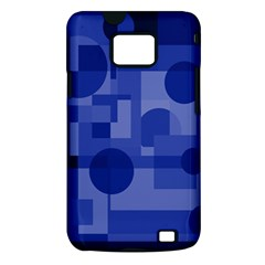 Deep blue abstract design Samsung Galaxy S II i9100 Hardshell Case (PC+Silicone)