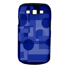 Deep blue abstract design Samsung Galaxy S III Classic Hardshell Case (PC+Silicone)
