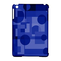 Deep blue abstract design Apple iPad Mini Hardshell Case (Compatible with Smart Cover)