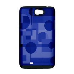 Deep blue abstract design Samsung Galaxy Note 2 Hardshell Case (PC+Silicone)