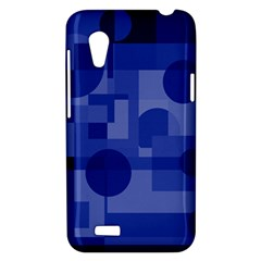 Deep blue abstract design HTC Desire VT (T328T) Hardshell Case