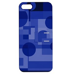 Deep blue abstract design Apple iPhone 5 Hardshell Case with Stand