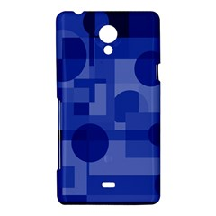 Deep blue abstract design Sony Xperia T