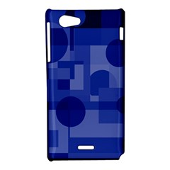 Deep blue abstract design Sony Xperia J