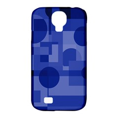 Deep blue abstract design Samsung Galaxy S4 Classic Hardshell Case (PC+Silicone)