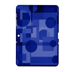 Deep blue abstract design Samsung Galaxy Tab 2 (10.1 ) P5100 Hardshell Case
