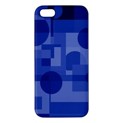Deep blue abstract design iPhone 5S/ SE Premium Hardshell Case