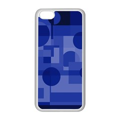 Deep blue abstract design Apple iPhone 5C Seamless Case (White)