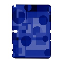 Deep blue abstract design Samsung Galaxy Note 10.1 (P600) Hardshell Case