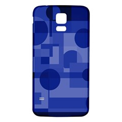 Deep blue abstract design Samsung Galaxy S5 Back Case (White)